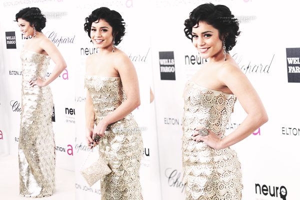 26.02.12 : Vanessa accompagnée d'Austin & Ashley au Elton John AIDS Foundation Academy Awards Viewing Party (after-party des Oscars) à Los Angeles. Gros TOP pour V', voilà comment prendre 10 ans dans la figure! ♥