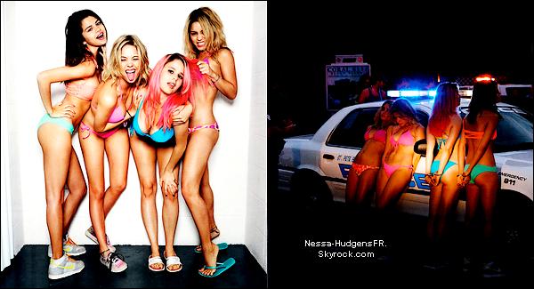 """Des photos exclusives du tournage viennent d'apparaitre, ces photos seront publiées dans le """" Interview Magazine """" du mois de mai 2012 avec une interview des quatres filles."""