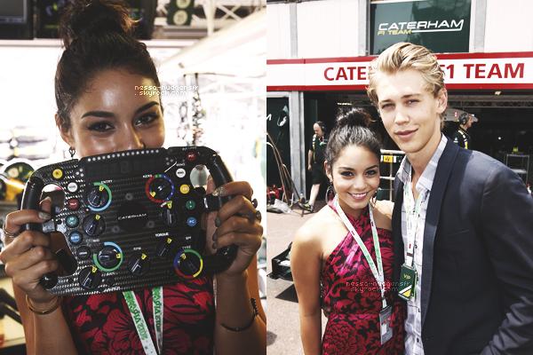 27 Mai 2012 : Vanessa était à Monaco toujours mais avec Austin, au Grand Prix de la F1.