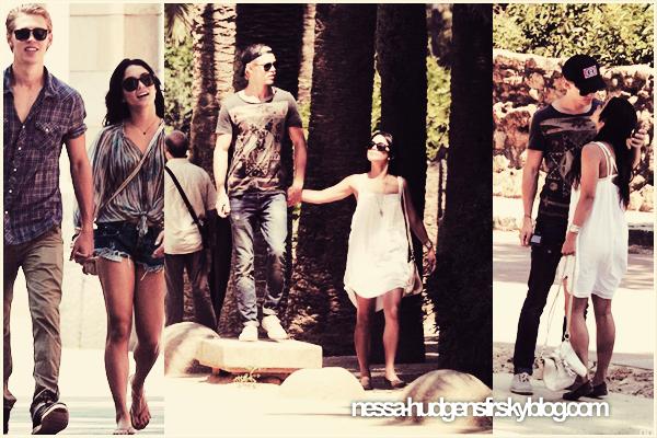 31 Mai 2012 : Vanessa a été vue à Barcelone profitant à fond de son séjour avec son boyfriend Austin.