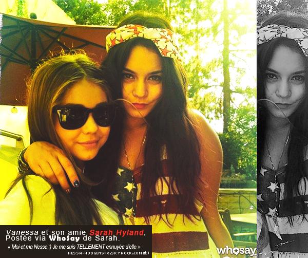 4 Juillet 2012 -C'est en compagnie d'Austin et des amis que Vanessa à fêter l'independance day hier.