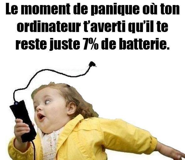 moment de panique !