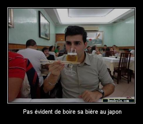 Pas facile de boire sa biere au Japon ...