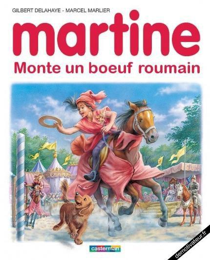 Martine monte un boeuf roumain