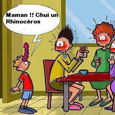 maman , jsuis un rhinoceros !!!