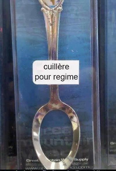 cuillere regime !