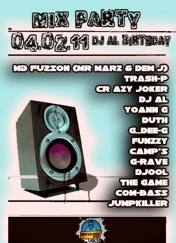 Mix @ Radio Banquise =) Dj AL Bday ! MD Fuzion (Mr.Marz & Dem-J)