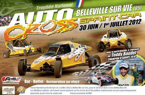 Affiche de la prochaine épreuve du Championnat de L'Ouest Autocross et Sprint-Car...