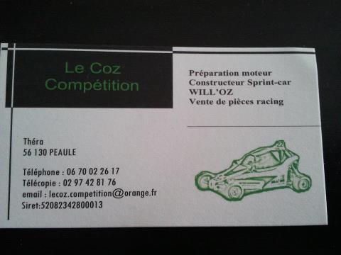 Carte de visite Le Coz Compétition...