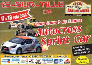 Prochain Rendez-Vous Du Championnat De France D'Autocross Et Sprint-Car
