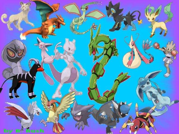 Questionnaire des pokemon préféré par type (4 premiere générations)