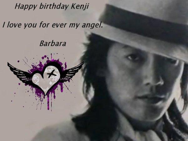 お誕生日おめでとうございます 沢田研二      (Happy birthday Kenji Sawada)