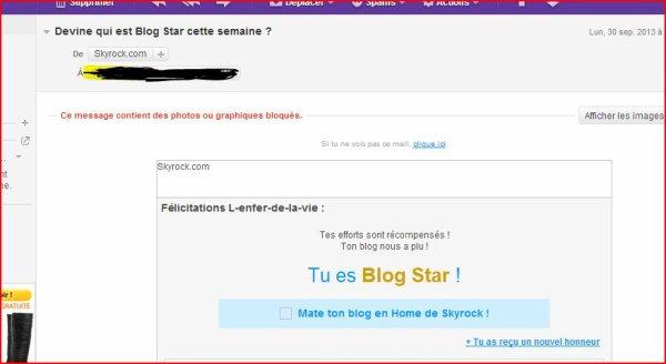 BLOG STARS !!!!!! *_* (Lundi 30 Septembre 2013 à 10H17)