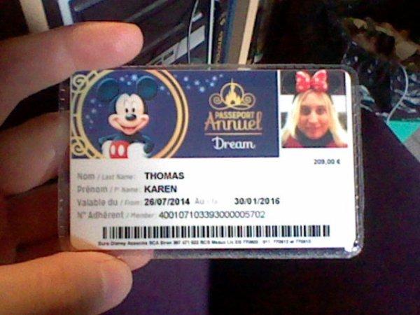 Mon nouveau passeport annuel Disney