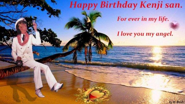 Bon anniversaire à mon p'tit ange Kenji <3