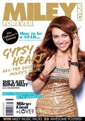 miley en couverture du mag miley cyrus forever