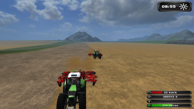 """Farming-Simulator 2011 : déchaumage avec """"pl1999"""""""
