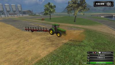 Farming-Simulator 2011 : mon nouveau John Deere et ma nouvelle charrue 9 socs