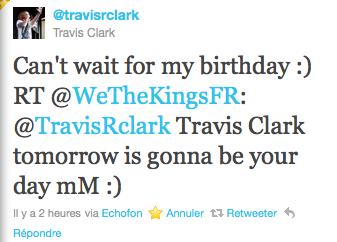 Joyeux Anniversaire Travis Clark