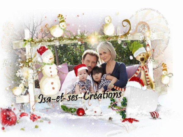 Ma créa de Noel de Johnny et sa famille