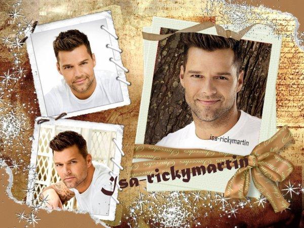 Mes nouvelles créa de mon chéri Ricky Martin