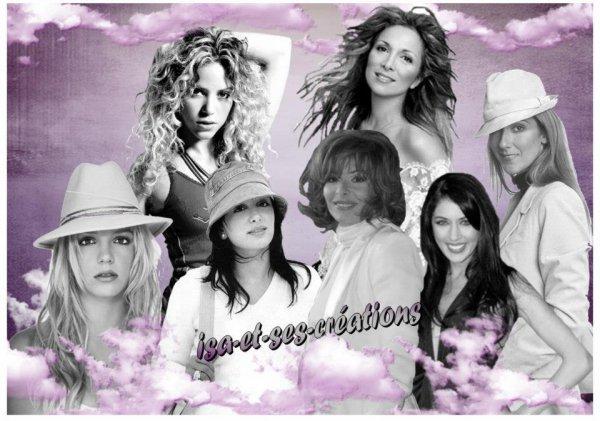 Mes créations avec divers chanteurs chanteuses acteurs actrices
