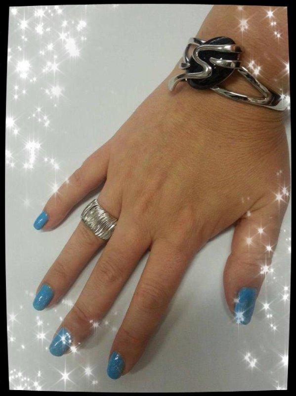 Mes nouvelles manicures : Orange et bleu turquoise