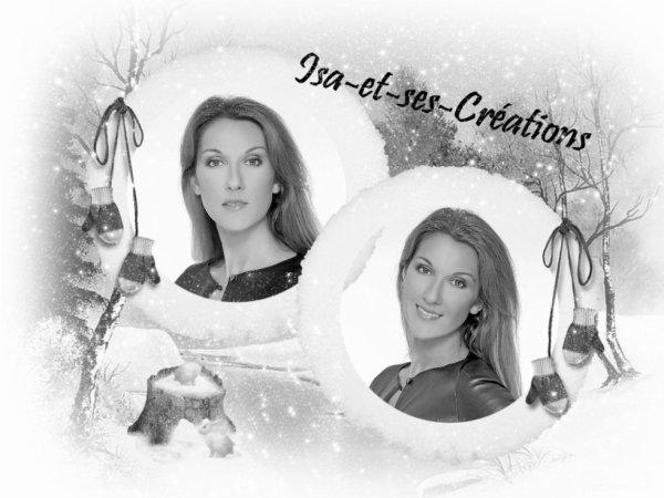 Suite : Mes nouvelles créa pour Noel 2014 : Céline Dion - Amel Bent