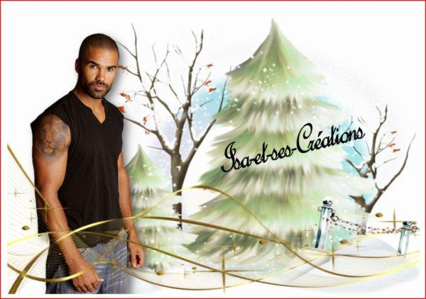 Ma nouvelle création pour Noel 2014 : Shemar Moore