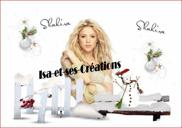 MES NOUVELLES CREATIONS POUR NOEL : SHAKIRA