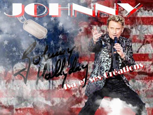 MA nouvelle création : JOHNNY HALLYDAY