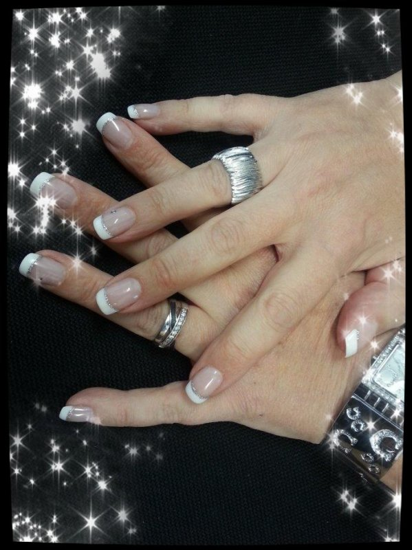 Ma nouvelle french manicure