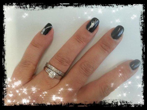Ma nouvelle manicure : noir et stickers