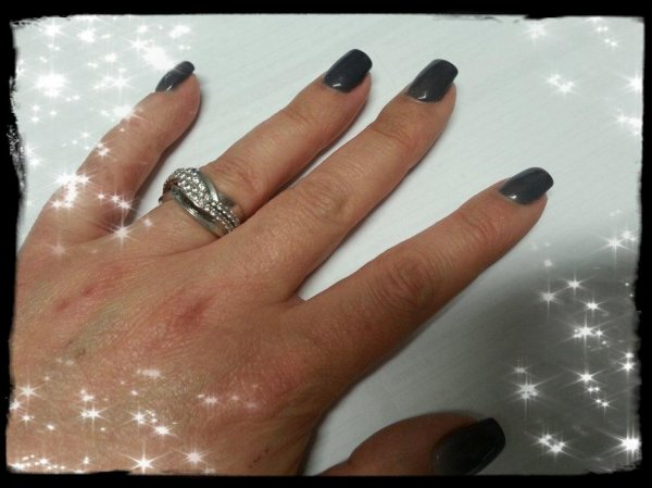 Ma nouvelle manicure - Vernis thermique gris et blanc