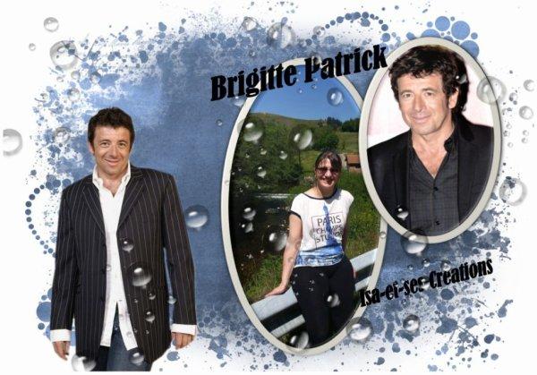 Ma petite création personnalisée pour mon amie Patrick-Brigitte