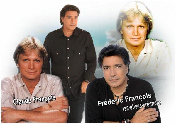 Mes nouvelles créa : FREDERIC FRANCOIS et CLAUDE FRANCOIS