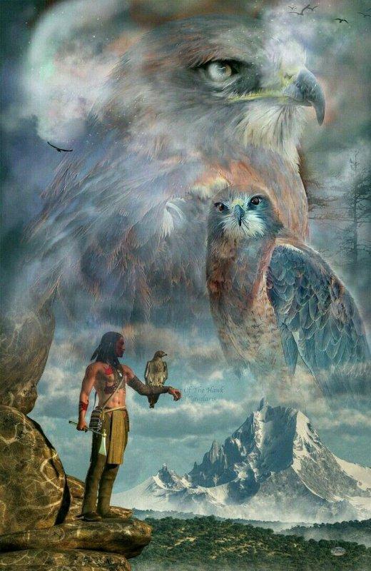 Les indiens d'Amérique et loups par isa