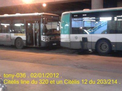 Irisbus Iveco Citélis 12 à Noisy-Mont D'Est .