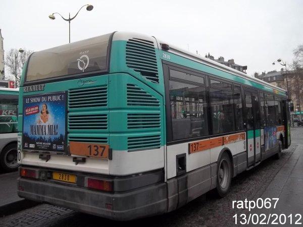 ligne 137 bus renault agora s 2 n 2830 blog regroupant tony 036 ratp067. Black Bedroom Furniture Sets. Home Design Ideas
