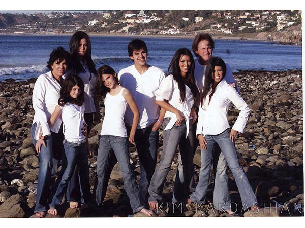 Kardashian Family Christmas Card from 2006
