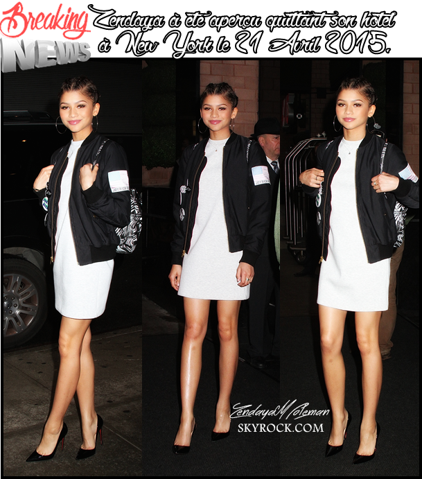 Zendaya Coleman - Présente à New York | Time Square pour de la promotions le 22 Avril à Good Morning America.
