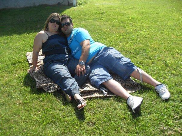 Mon chéri que j'aime et moi en vacance