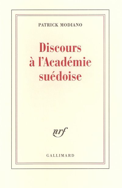 Discours à l'Académie suédoise de Patrick Modiano