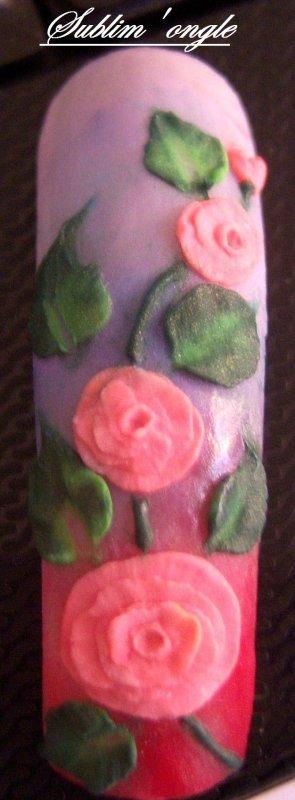 Déco 3D acrylique faites lors de ma formation du 29 août avec alexia nail .