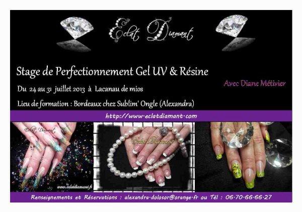 Formation avec Eclat Diamant du 14 au 25 Août  2013 .