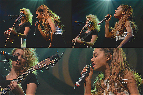 - 23/01/14: Ariana et Tori Kelly performant Right There aux « MTV's 2014 'Artist To Watch ». -