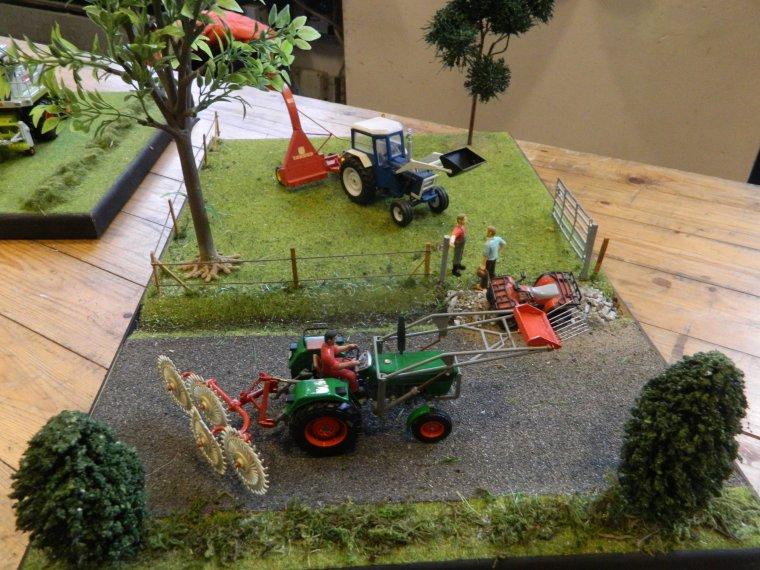 mes dioramas lors de l'expo de celles 2018 (ducasliminiagri)