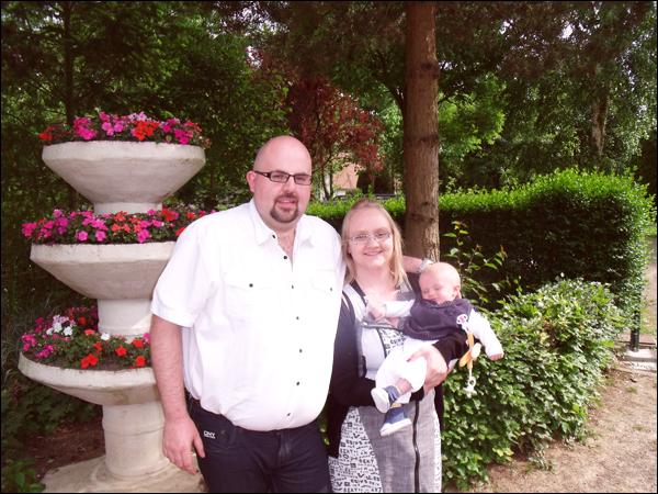9 juin 2013 - Baptême de Louka, Rom' devient parrain officiel ! :)