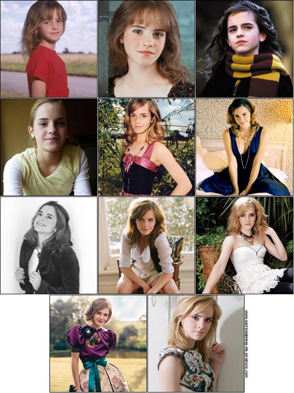 Découvrez Lévolution De Emma Watson De Ses Débuts à