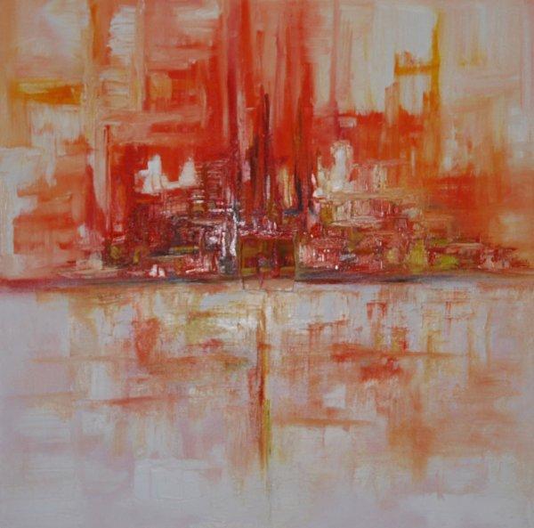 Tableau abstrait peinture l 39 huile 80x80 cm blog de artcontemporain2610 - Tableaux de peinture a l huile ...